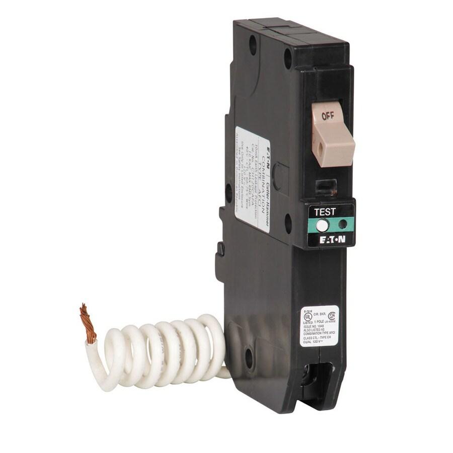 medium resolution of eaton type ch 20 amp 1 pole combination arc fault circuit breaker