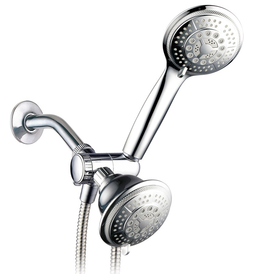 high flow rate kitchen faucets wooden tables shop hydroluxe chrome 24-spray shower head and handheld ...