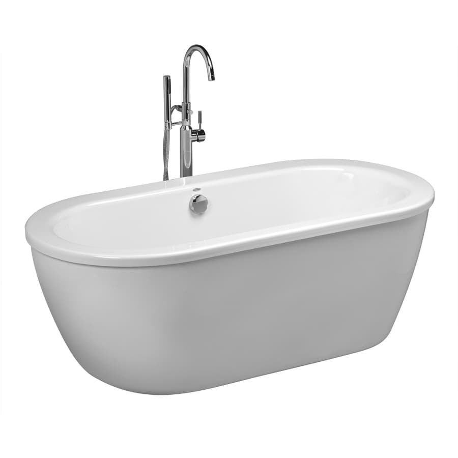 Shop American Standard Cadet 66 In White With Center Drain
