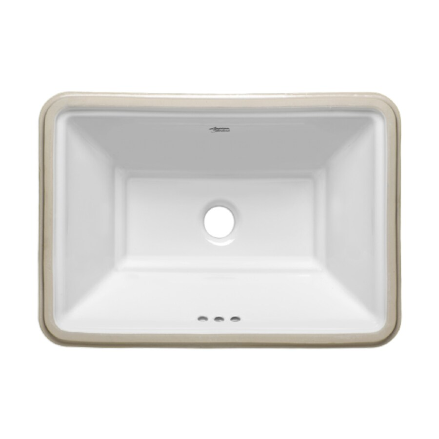 Lowes Undermount Bathroom Sink American Standard Esteem White Undermount Rectangular Bathroom