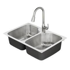 Kitchen Sink At Lowes Black Rug Sinks Com American Standard Tulsa 33 In X 22 Stainless Steel Double Basin Drop