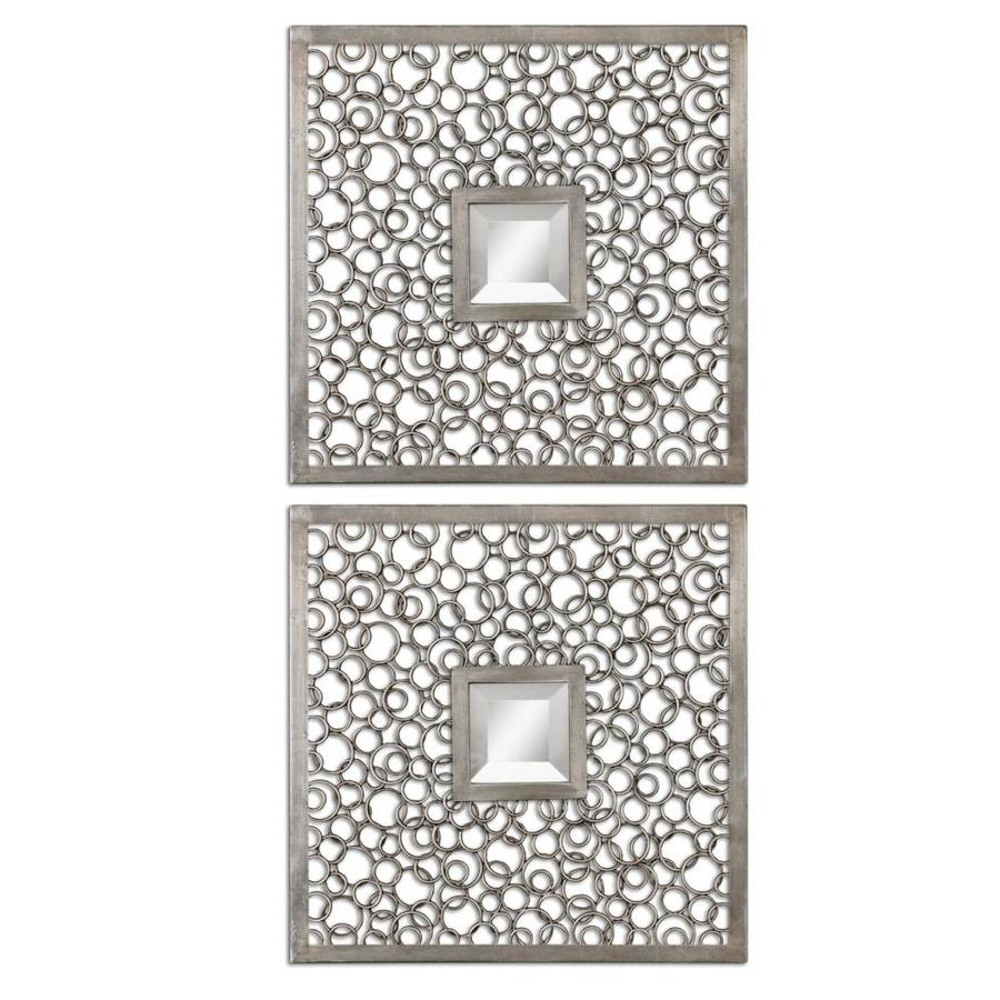Shop Global Direct Antique Silver Beveled Square Wall