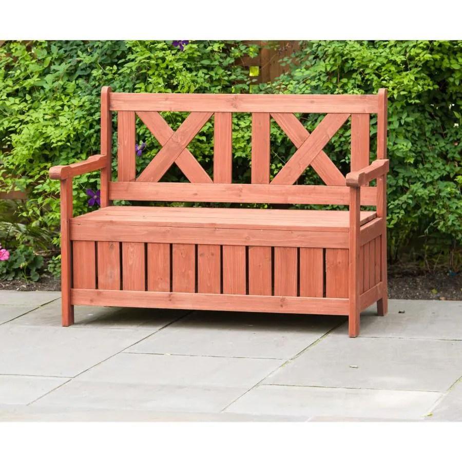 leisure season 45 in w x 33 in l medium brown bench