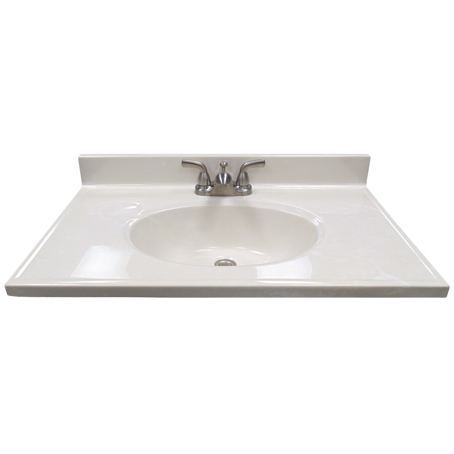 US Marble Ambassador 31in White On White Cultured Marble Bathroom Vanity Top at Lowescom