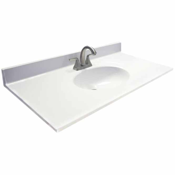 Home Decorators Collection 25 In W X 19 D Marble Vanity Top Carrara With White