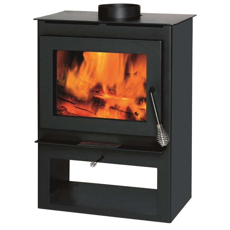 kitchen stoves at lowes counter height table shop summers heat 1200-sq ft wood burning stove lowes.com