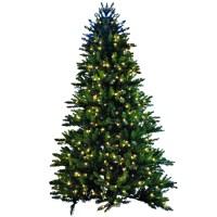 Shop GKI/Bethlehem Lighting 7.5-ft Pre-Lit Spruce ...
