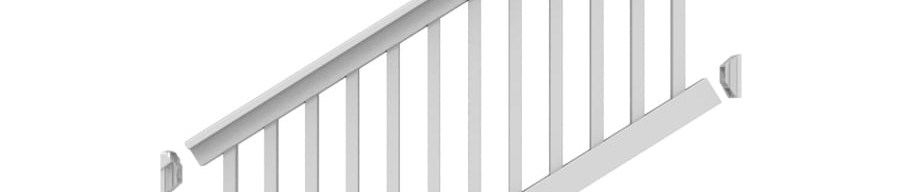 Freedom Lincoln Stair White Pvc Deck Stair Rail Kit With Balusters   Lowes Wood Stair Railing   Stair Parts   Deck Stairs   Baluster   Stair Tread   Porch