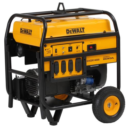 small resolution of dewalt 11700 running watt gasoline portable generator with honda engine