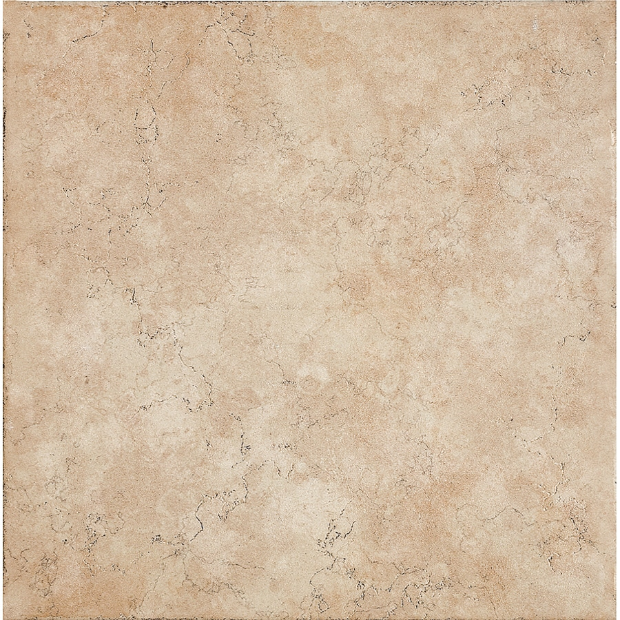del conca 16 in x 16 in rialto beige thru body porcelain floor tile