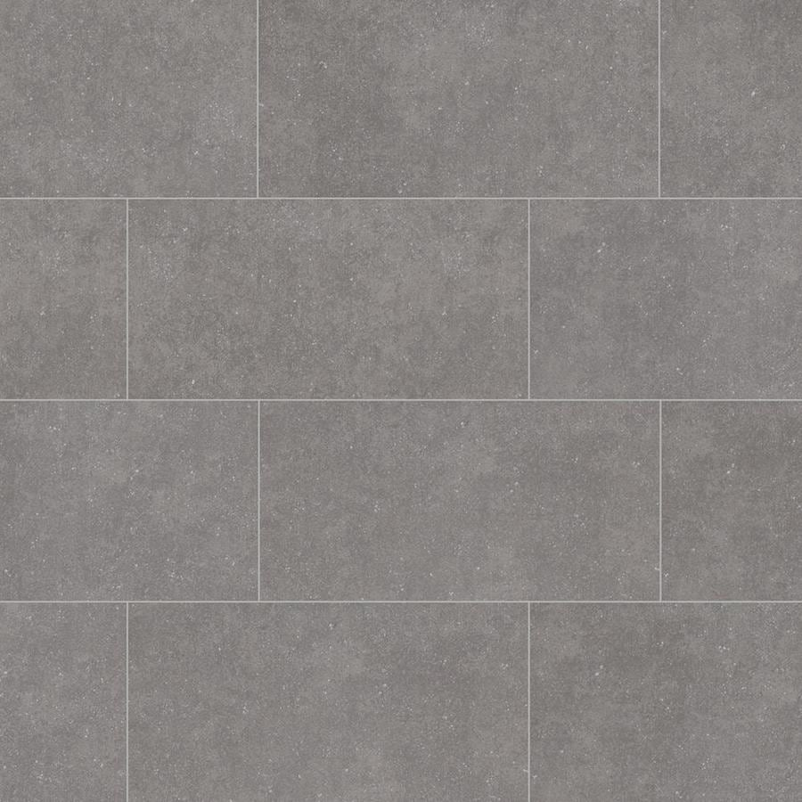 style selections mitte gray 12 in x 24 in glazed porcelain tile lowes com