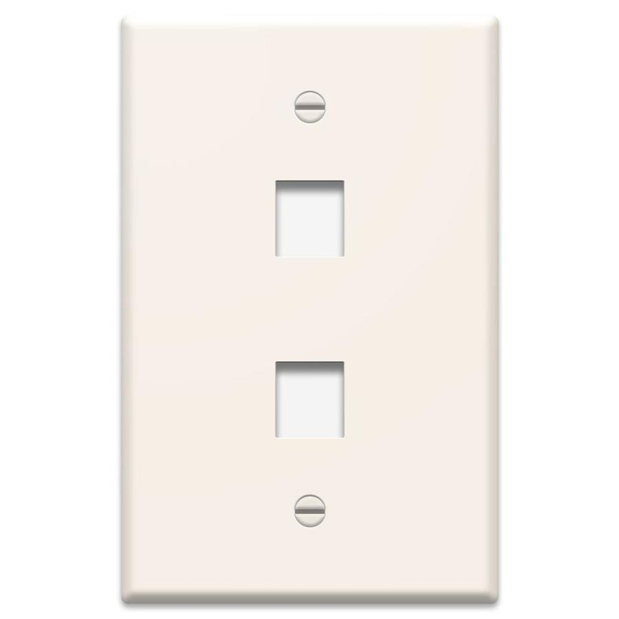 medium resolution of legrand 1 gang light almond double keystone midsize wall plate at structured wiring enclosure lowes