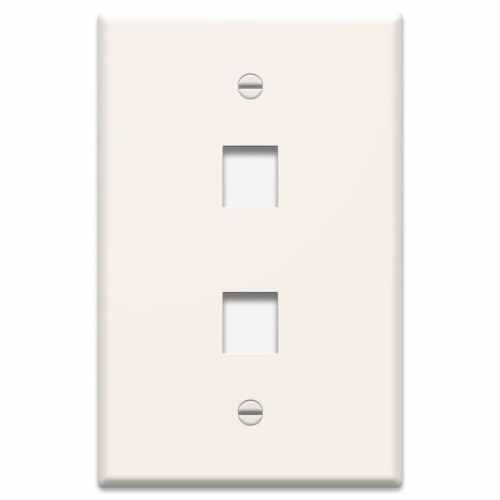 small resolution of legrand 1 gang light almond double keystone midsize wall plate at structured wiring enclosure lowes