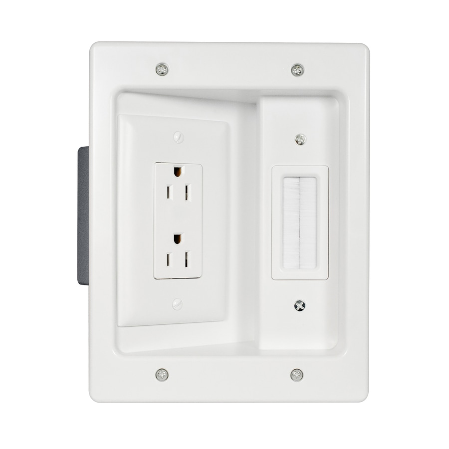 hight resolution of legrand 2 gang white plastic interior new work old work standard rectangular wall electrical box