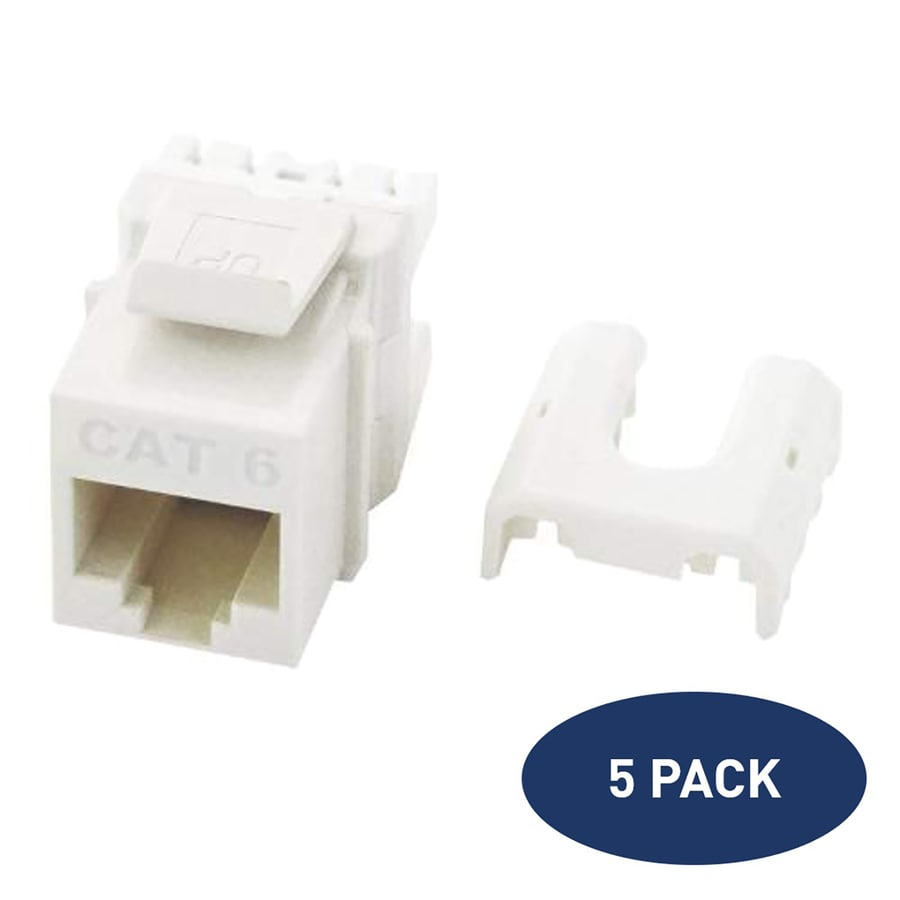 medium resolution of legrand 5 pack plastic cat6 ethernet wall jack