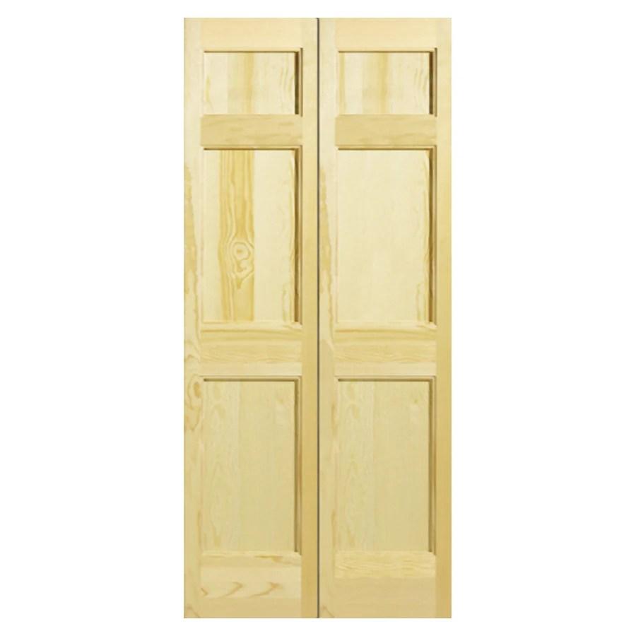 Reliabilt 24 Quot W 6 Panel Solid Core Wood Interior Bifold