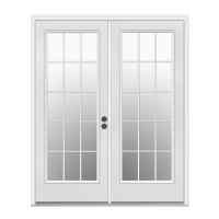 Shop ReliaBilt Left-Hand Inswing Steel French Patio Door ...