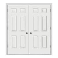 Shop ReliaBilt Reversible Primed Steel Prehung Entry Door ...