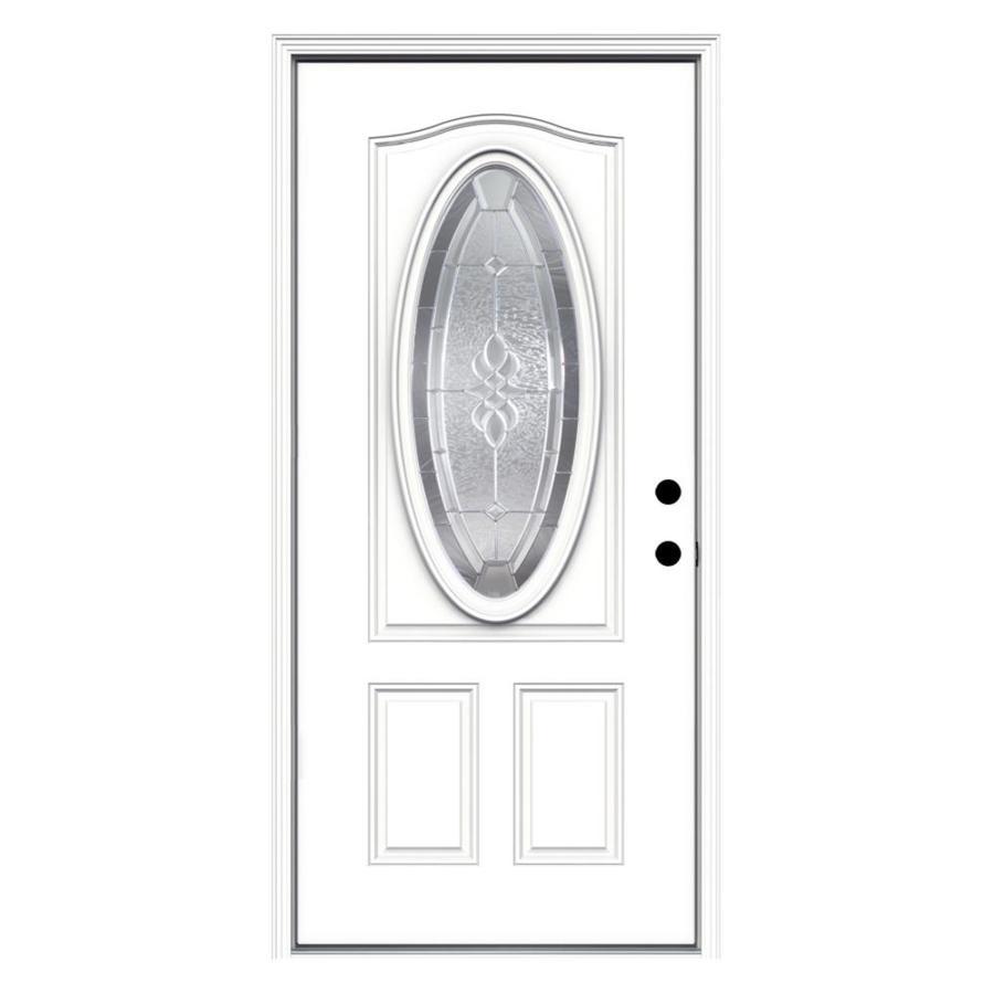 JELD-WEN Hampton Oval Lite Decorative Glass Left-Hand