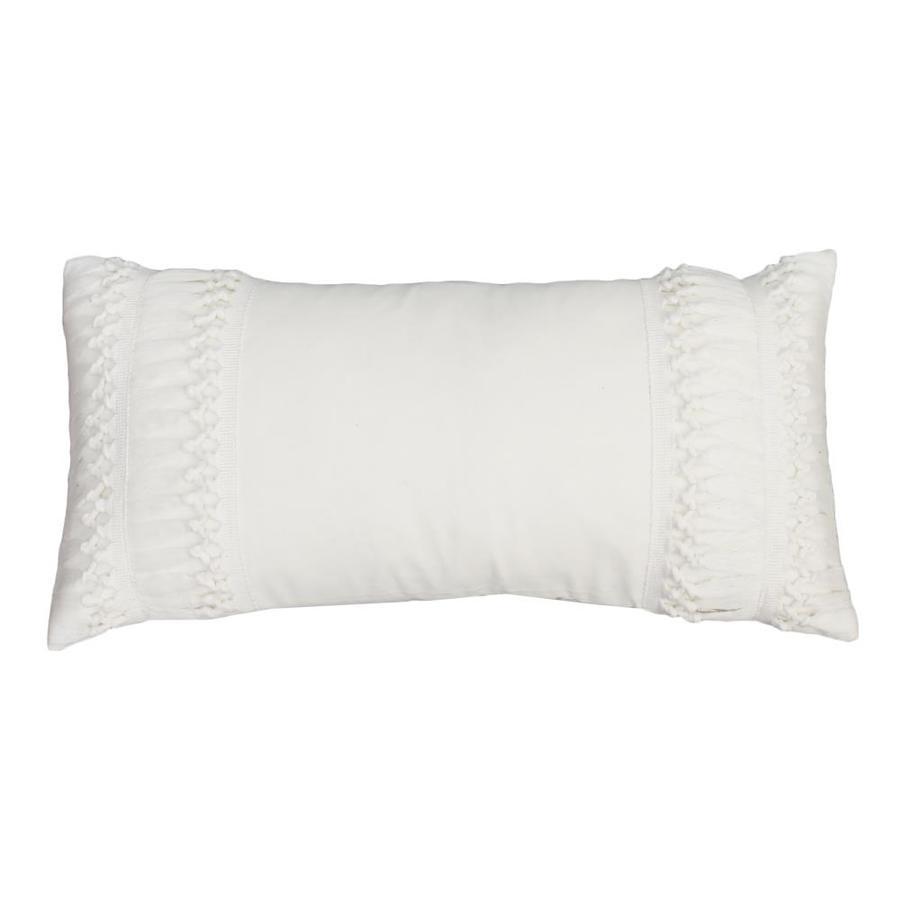 allen roth 12 in x 24 in egret multi rectangular indoor decorative pillow