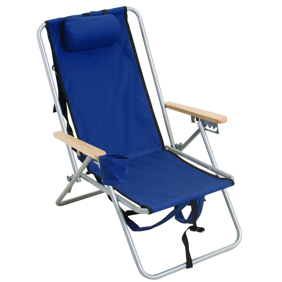 Beach Folding Chairs Rio Brands 1 Indoor Outdoor Steel Beach Folding Chair At Lowes