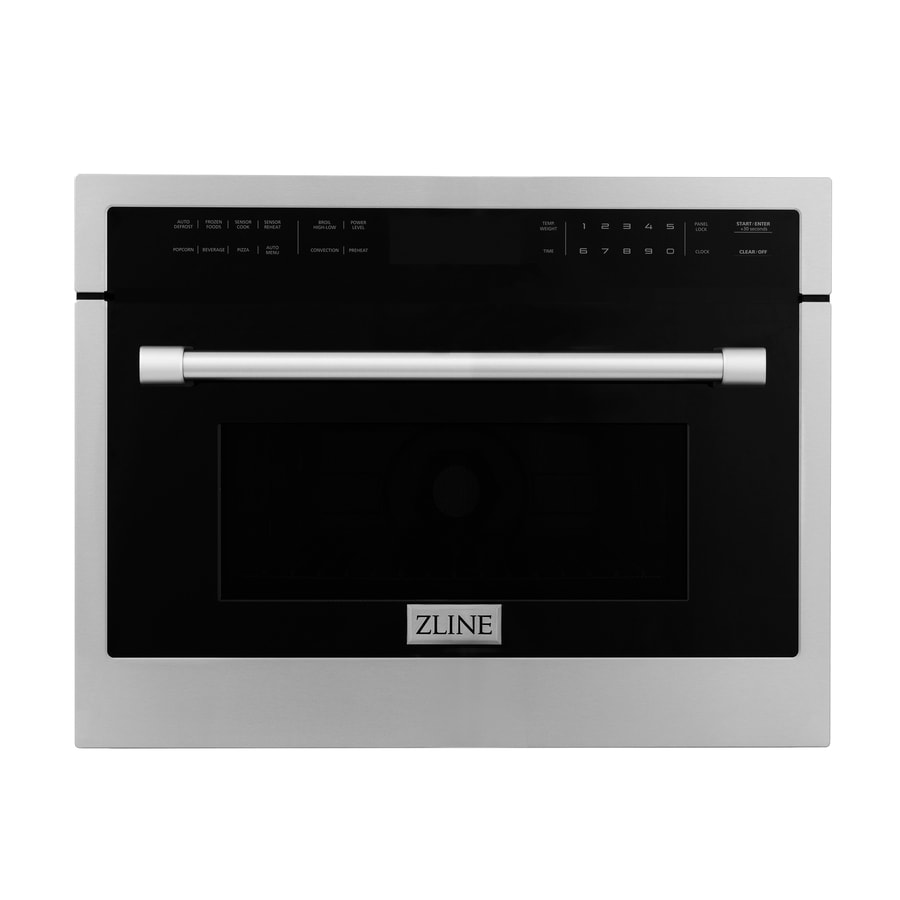 zline kitchen bath mwo 24 1 6 cu ft built in microwave with sensor cooking controls and speed cook stainless steel