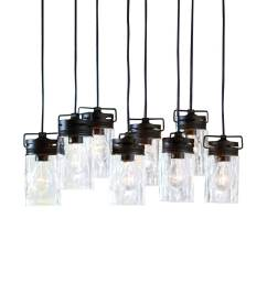allen roth vallymede aged bronze multi light transitional clear glass jar pendant light [ 900 x 900 Pixel ]