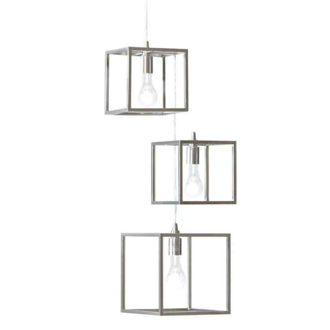Style Selections Arctura 17 In 3 Light Brushed Nickel Abstract Chandelier