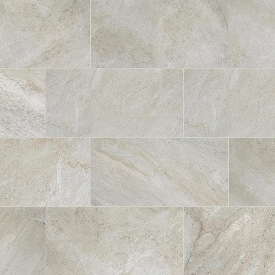 style selections classico taupe 12 in x 24 in glazed porcelain floor tile