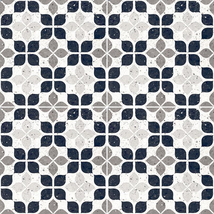 della torre terrazzo white 8 in x 8 in glazed porcelain encaustic floor and wall tile sample lowes com