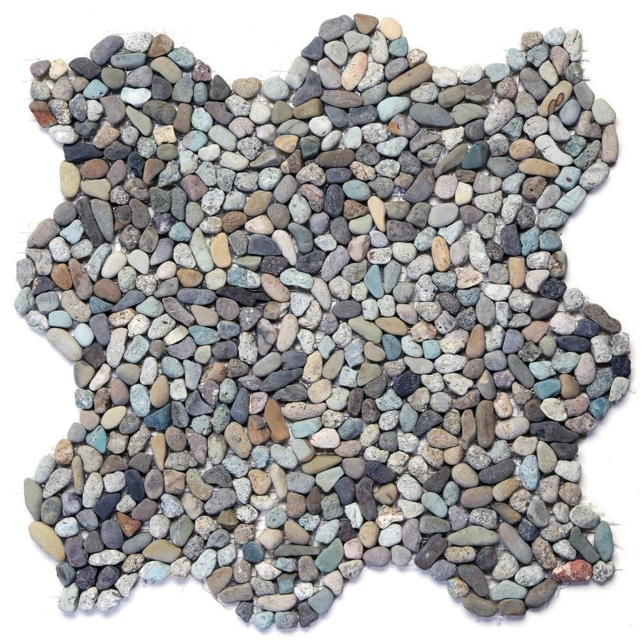 solistone micro pebbles 10 pack cayman blue pebble mosaic floor and wall tile common 12 in x 12 in actual 12 in x 12 in