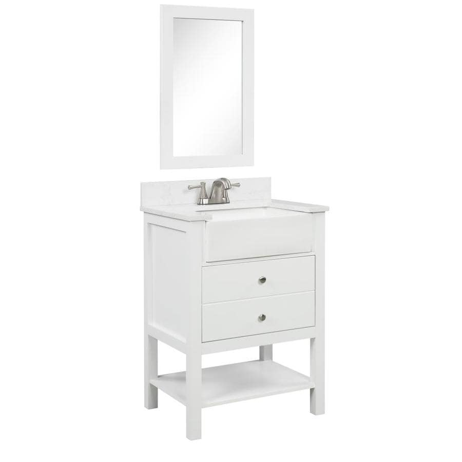 Single Sink Farmhouse Bathroom Vanities With Tops At Lowes Com