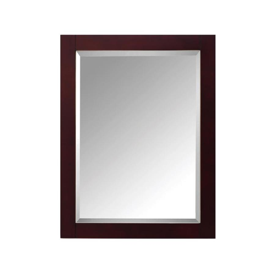 Avanity Modero 24in Espresso Rectangular Bathroom Mirror