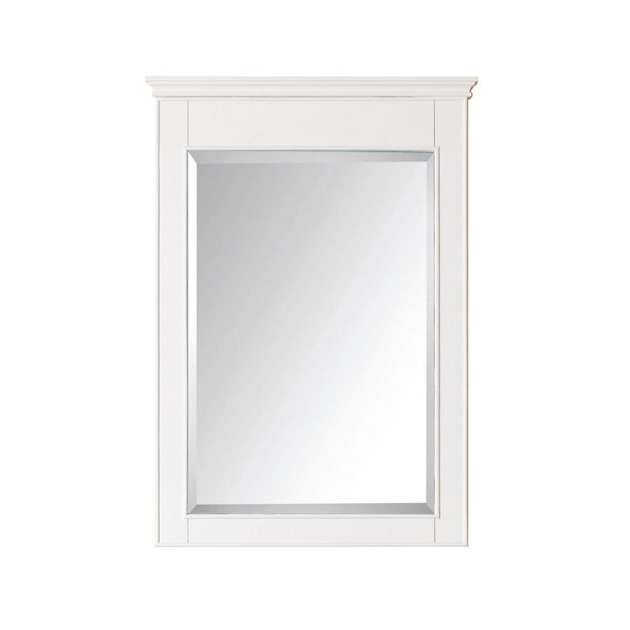 Framed Mirror Birch White