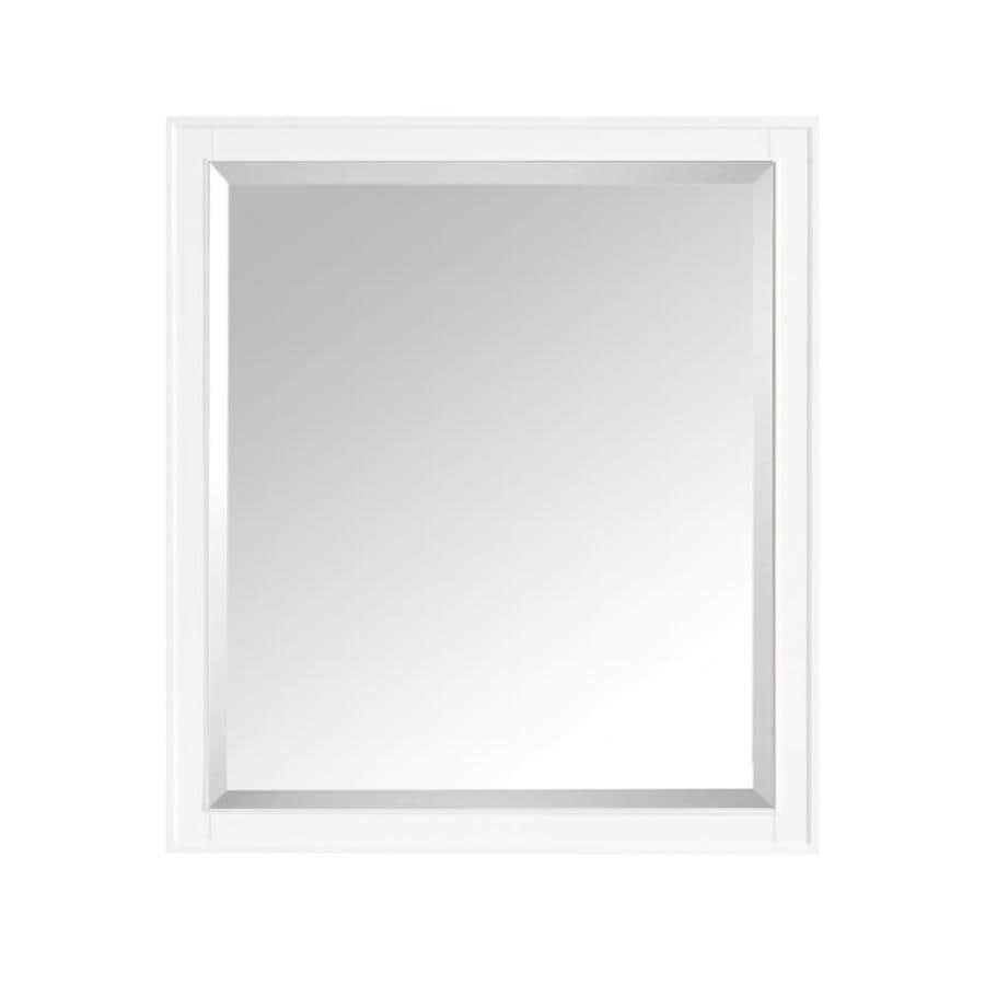 Avanity Madison 36 In White Rectangular Bathroom Mirror In The Bathroom Mirrors Department At Lowes Com