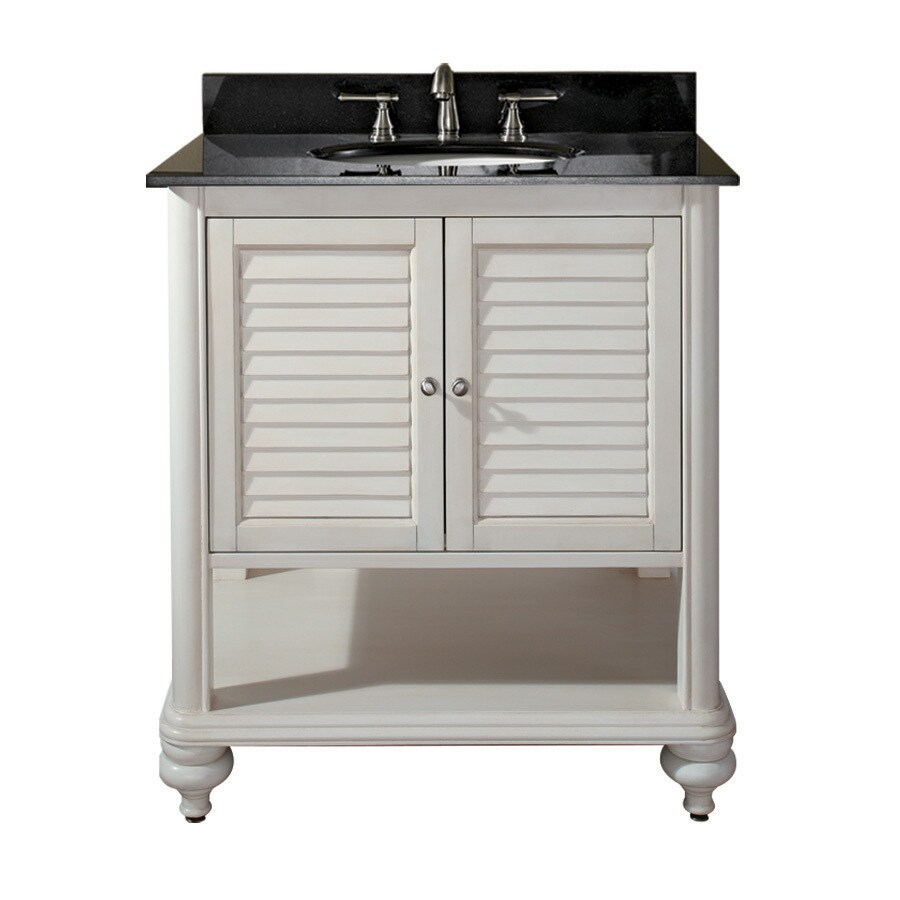 Shop Avanity Tropica Weathered White Casual Bathroom Vanity Common 30in x 21in Actual 30