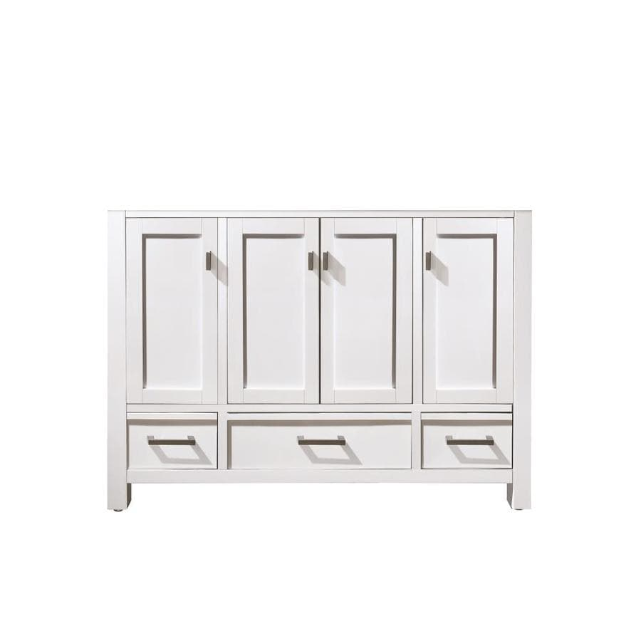 48 Bathroom Vanity Cabinet Avanity Modero 48 In White Bathroom Vanity Cabinet At Lowes