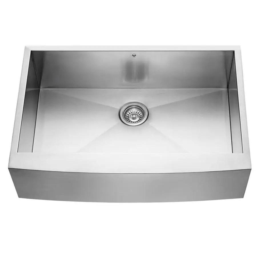 undermount kitchen sinks lowes pottery barn kitchens shop vigo 33-in x 20-in stainless steel single-basin ...