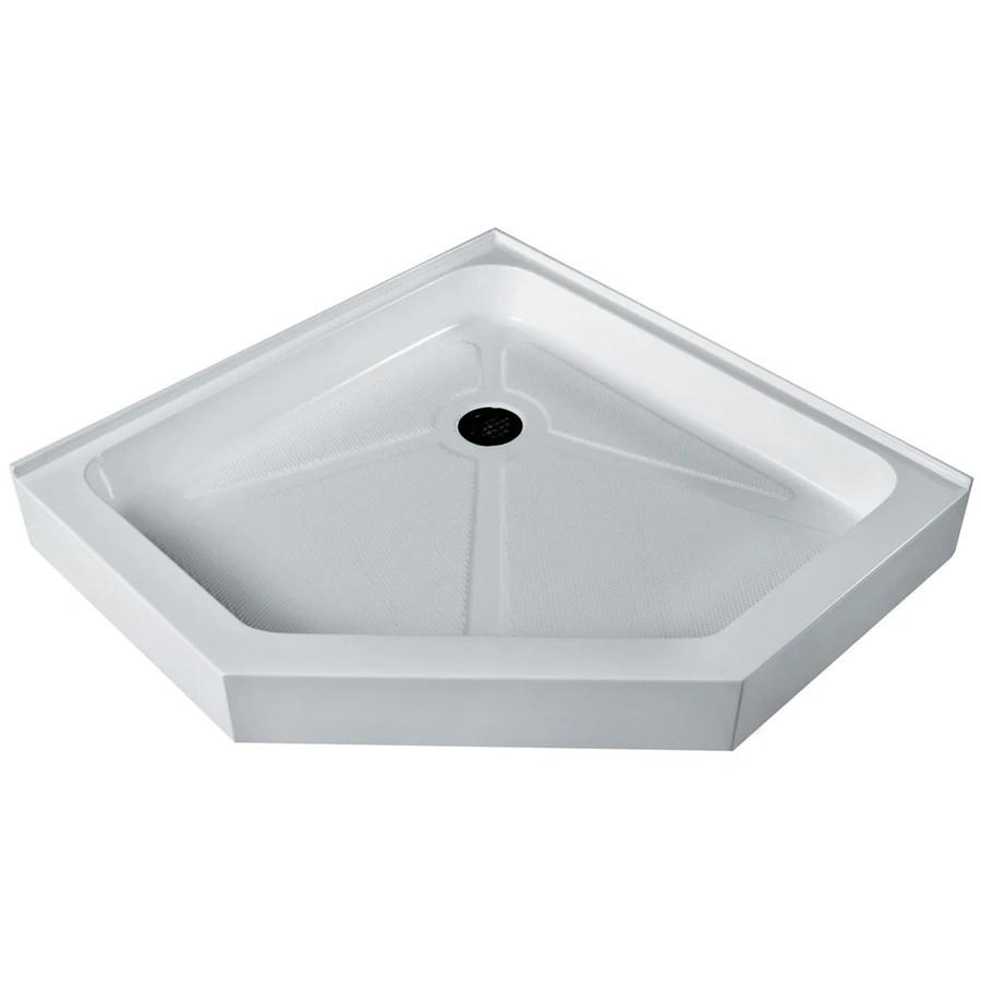 Shop VIGO White Acrylic Shower Base Common 40 In W X 40 In L Actual 4025 In W X 4025 In L