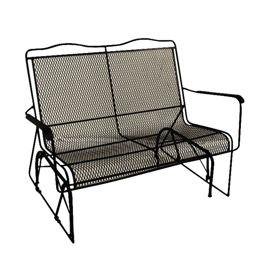 davenport charcoal metal frame rocking chair s with mesh seat lowes com