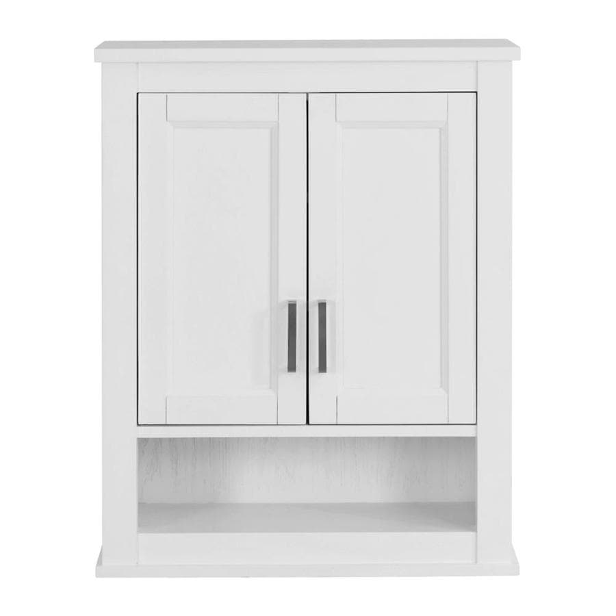 Scott Living Durham 24in W x 30in H x 10in D White Bathroom Wall Cabinet at Lowescom