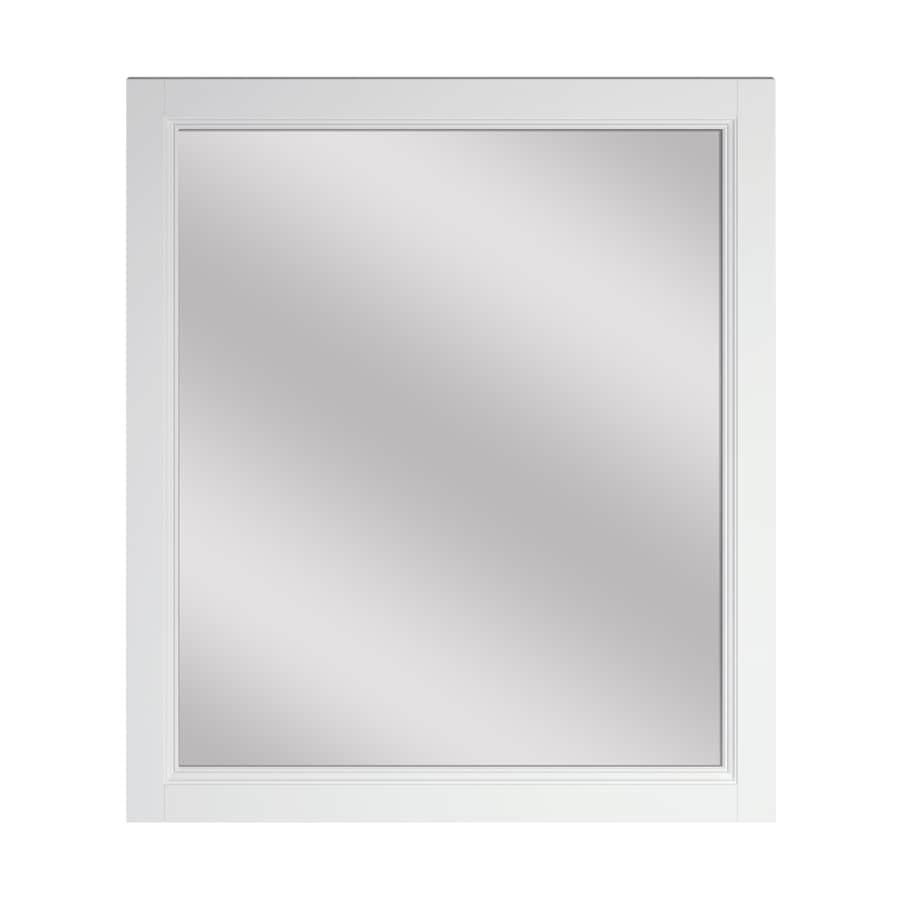 Allen Roth Canterbury 28 In White Rectangular Bathroom Mirror In The Bathroom Mirrors Department At Lowes Com