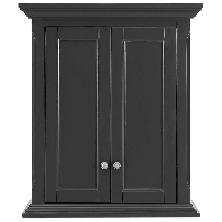 Wall Cabinets For Bathrooms Scott Living Roveland 24 In W X 28 In H X 10 In D Dark Gray