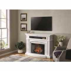 Fireplace For Living Room Design My Own Electric Fireplaces At Lowes Com Scott 52 5 In W White Infrared Quartz