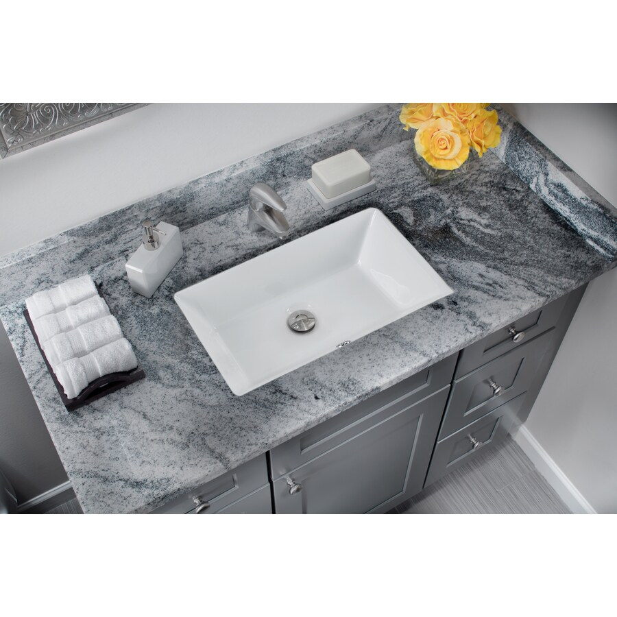 superior sinks white glazed porcelain undermount rectangular bathroom sink with overflow drain 21 in x 13 375 in