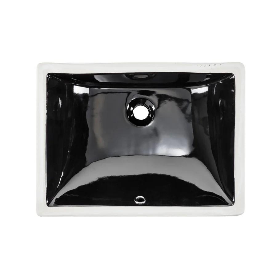 undermount kitchen sinks at lowes ideas for islands shop superior black/glazed porcelain ...
