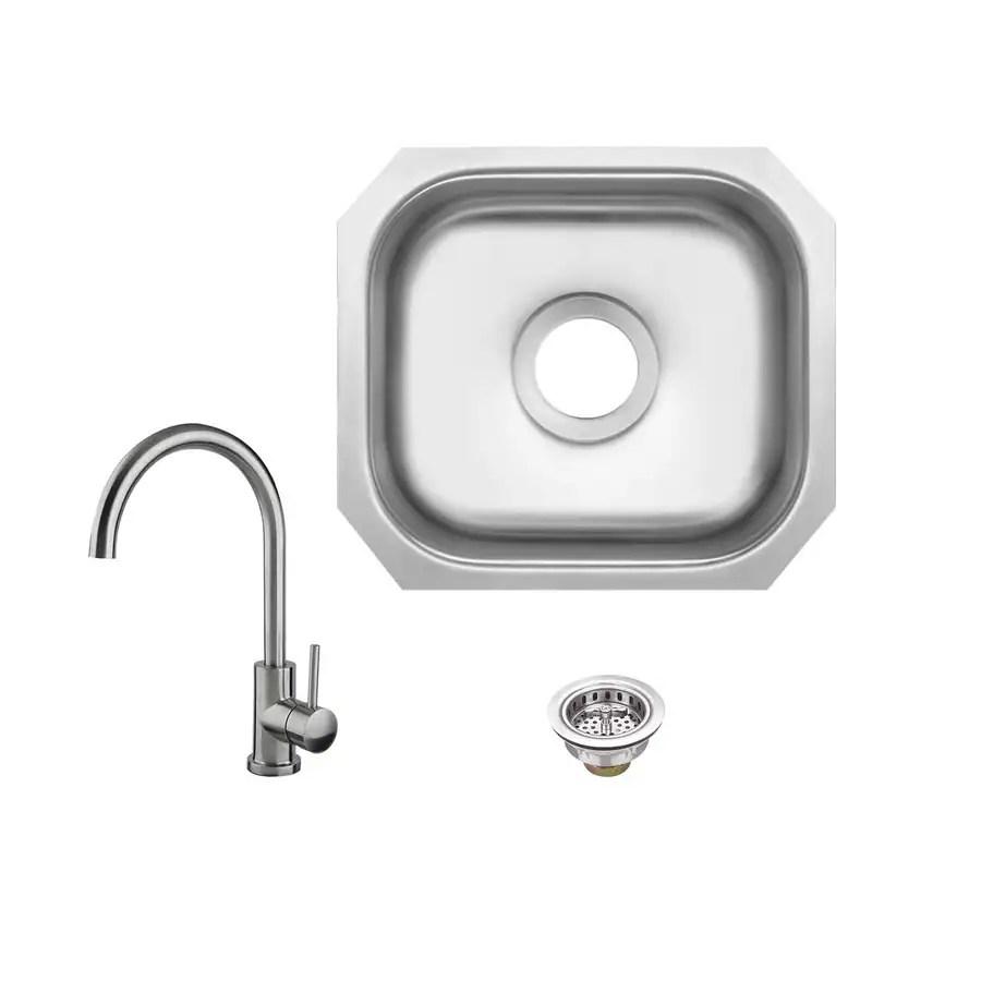undermount kitchen sinks at lowes modern island shop superior brushed satin single-basin stainless ...