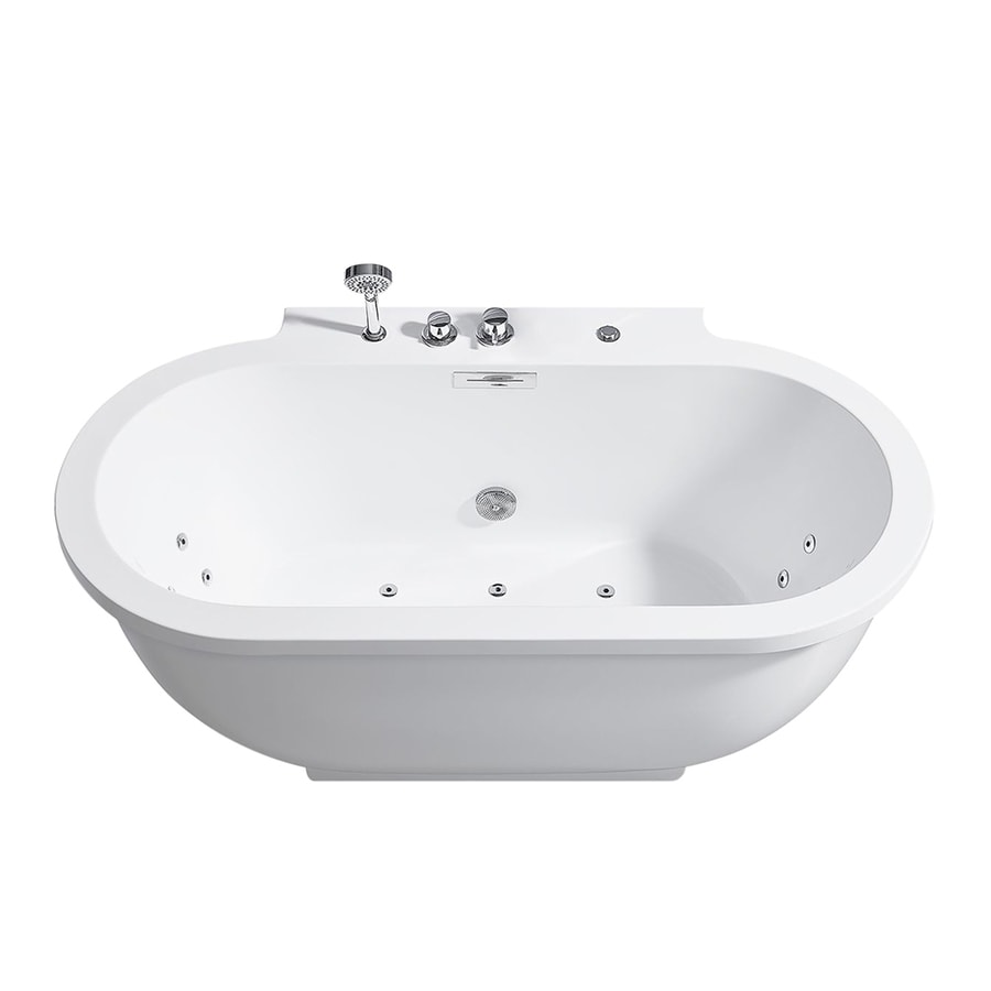 Shop ARIEL 701 In White With Center Drain At