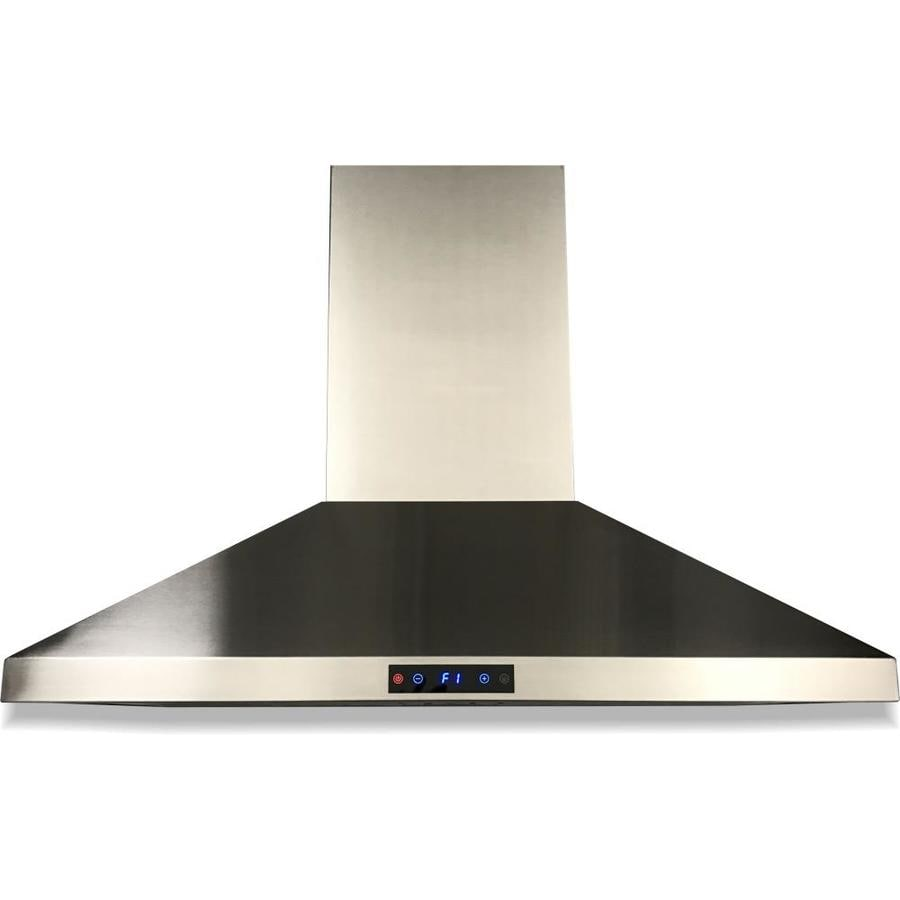 cavaliere 36 in ducted stainless steel wall mounted range hood in the wall mounted range hoods department at lowes com
