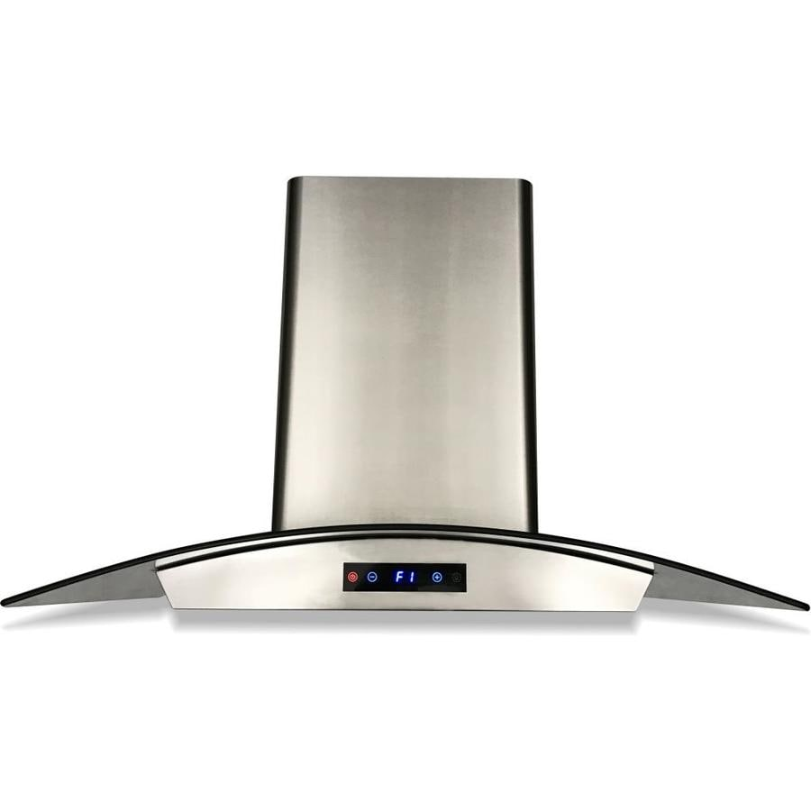 cavaliere 36 in ducted stainless steel wall mounted range hood